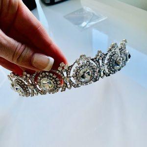Silver Gemstone Crown